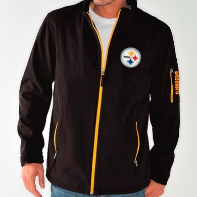 Pittsburgh Steelers NFL Inside Handoff Full Zip Softshell Premium Jacket
