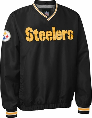 Pittsburgh Steelers NFL Pre-Season Wordmark Pullover Black Jacket