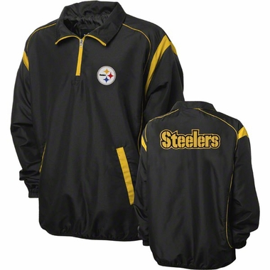 Pittsburgh Steelers NFL Red Zone 1/4 Zip Black Jacket