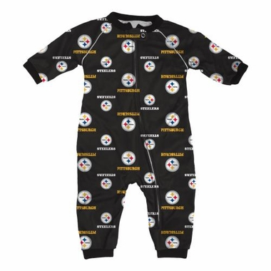 Pittsburgh Steelers NFL Toddler Raglan Zip Up Sleeper