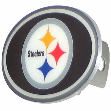 Pittsburgh Steelers Oval Metal Hitch Cover