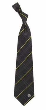 Pittsburgh Steelers Oxford Stripe Woven Silk Necktie