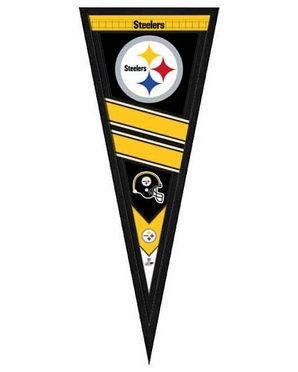"""Pittsburgh Steelers Pennant Frame - 13""""x33"""" (No Glass)"""
