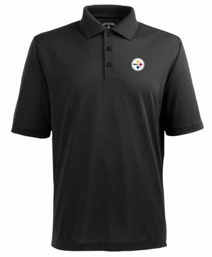 Pittsburgh Steelers Mens Pique Xtra Lite Polo Shirt (Team Color: Black)