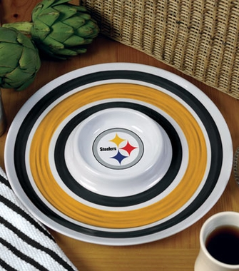 Pittsburgh Steelers Plastic Chip and Dip Plate