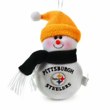 Pittsburgh Steelers Plush Snowman Ornament (Set of 3)