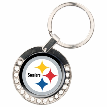 Pittsburgh Steelers Rhinestone Key Chain