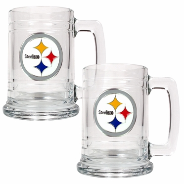 Pittsburgh Steelers Set of 2 15 oz. Tankards