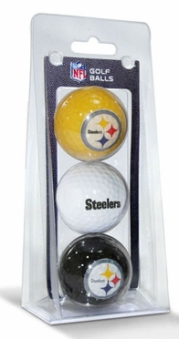 Pittsburgh Steelers Set of 3 Multicolor Golf Balls