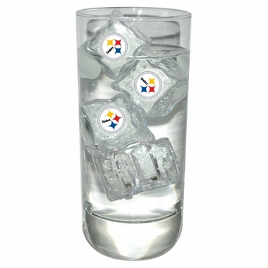 Pittsburgh Steelers Set of 4 Light Up Ice Cubes