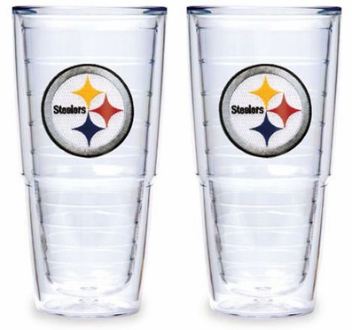 "Pittsburgh Steelers Set of TWO 24 oz. ""Big T"" Tervis Tumblers"