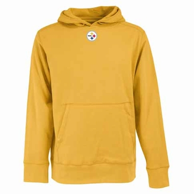 Pittsburgh Steelers Mens Signature Hooded Sweatshirt (Color: Gold)
