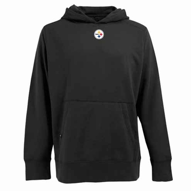 Pittsburgh Steelers Mens Signature Hooded Sweatshirt (Color: Black)