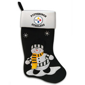 Pittsburgh Steelers Snowman Fabric Stocking