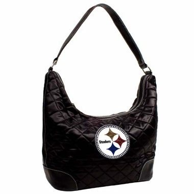 Pittsburgh Steelers Sport Noir Quilted Hobo