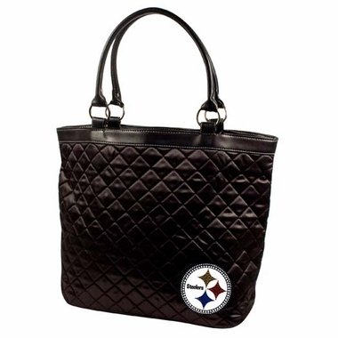 Pittsburgh Steelers Sport Noir Quilted Tote