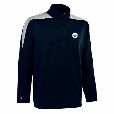 Pittsburgh Steelers Mens Succeed 1/4 Zip Performance Pullover (Color: Smoke)