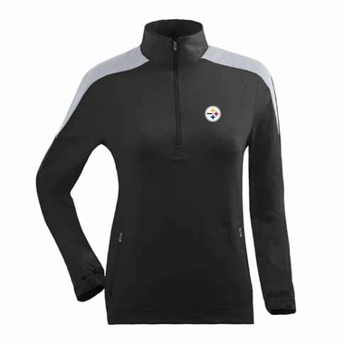 Pittsburgh Steelers Womens Succeed 1/4 Zip Performance Pullover (Team Color: Black)