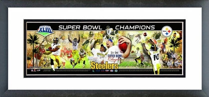 Pittsburgh Steelers Super Bowl XLIII Champions Framed / Double Matted Photoramic