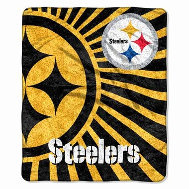 Pittsburgh Steelers Super-Soft Sherpa Blanket