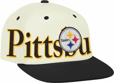 Pittsburgh Steelers Team Name and Logo Snapback Hat
