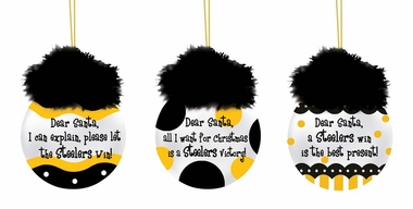 Pittsburgh Steelers Team Sayings Ornament Set
