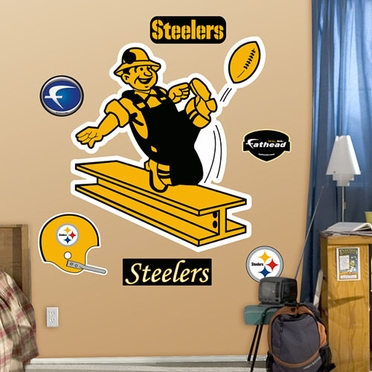 Pittsburgh Steelers Throwback Logo Fathead Wall Graphic