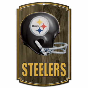 Pittsburgh Steelers Throwback Wood Sign