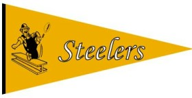 Pittsburgh Steelers Throwback Wool Pennant