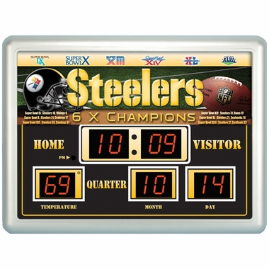 Pittsburgh Steelers Time / Date / Temp. Scoreboard