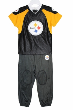 Pittsburgh Steelers Toddler NFL Jersey & Pants Set