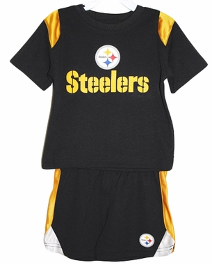 Pittsburgh Steelers Toddler NFL Mesh Crew Shirt & Shorts Set