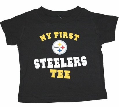 """Pittsburgh Steelers Toddler NFL """"My First Steelers"""" Tee T-Shirt"""