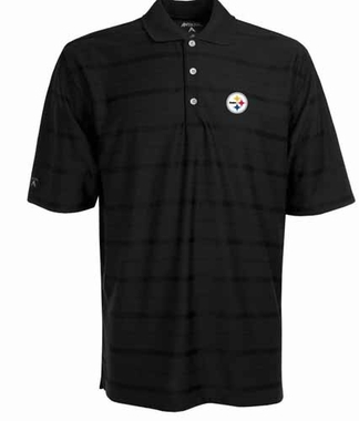 Pittsburgh Steelers Mens Tonal Polo (Team Color: Black)