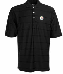 Pittsburgh Steelers Mens Tonal Polo (Team Color: Black) - Small