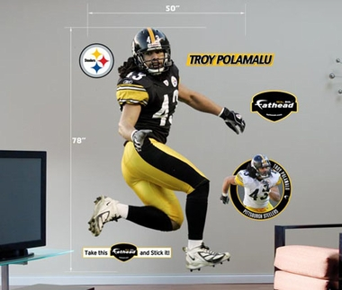 Pittsburgh Steelers Troy Polamalu Fathead Wall Graphic