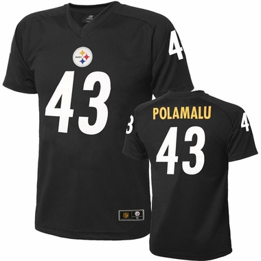 Pittsburgh Steelers Troy Polamalu Youth Performance T-shirt