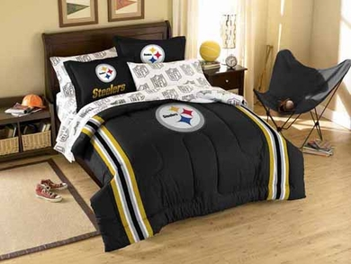 Pittsburgh Steelers Twin Comforter and Shams Set