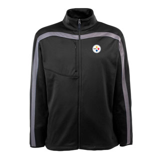 Pittsburgh Steelers Mens Viper Full Zip Performance Jacket (Team Color: Black)