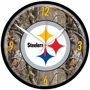 Pittsburgh Steelers Wall Clock (Realtree)