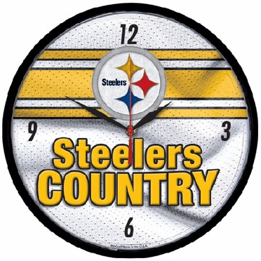 Pittsburgh Steelers Wall Clock (Steelers Country)