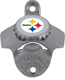 Pittsburgh Steelers Wall Mount Bottle Opener