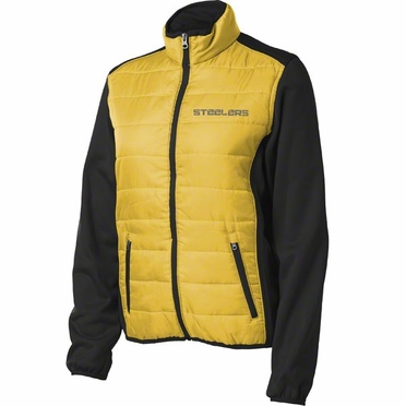 Pittsburgh Steelers Women's Everest Full Zip Quilted Front Panel Jacket