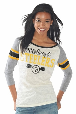 "Pittsburgh Steelers Women's G-III NFL ""T-Formation"" 3/4 Sleeves Top Shirt"