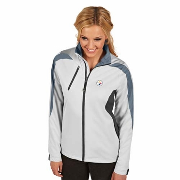 Pittsburgh Steelers Womens Discover Jacket (Color: White)