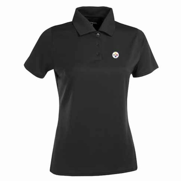 Pittsburgh Steelers Womens Exceed Polo (Team Color: Black)