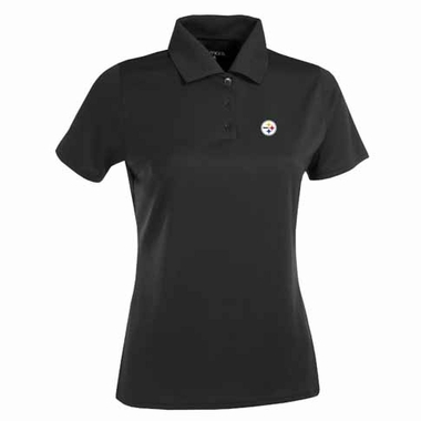 Pittsburgh Steelers Womens Exceed Polo (Color: Black)