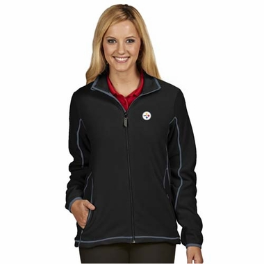 Pittsburgh Steelers Womens Ice Polar Fleece Jacket (Color: Black)