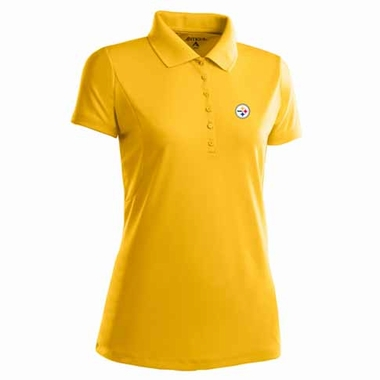 Pittsburgh Steelers Womens Pique Xtra Lite Polo Shirt (Alternate Color: Gold)