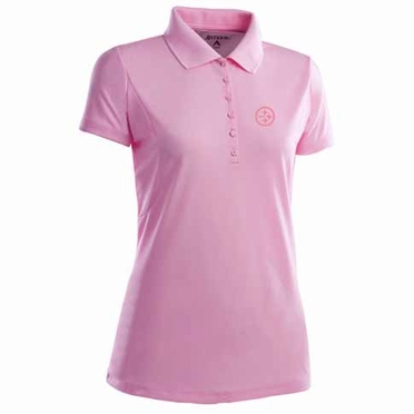 Pittsburgh Steelers Womens Pique Xtra Lite Polo Shirt (Color: Pink)